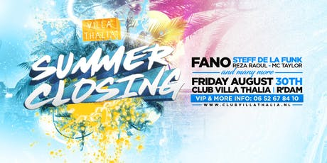 Summer Closing Party 30-8 tickets