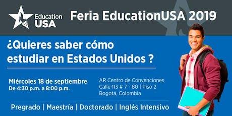 Feria EducationUSA 2019 - Bogotá boletos