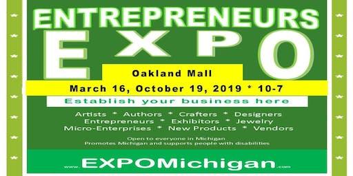 ENTREPRENEURS EXPO, Oakland Mall,  October 19, 2019, center mall 2 vendors tables