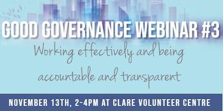Good Governance Webinar #3 tickets