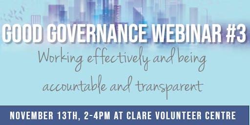 Good Governance Webinar #3