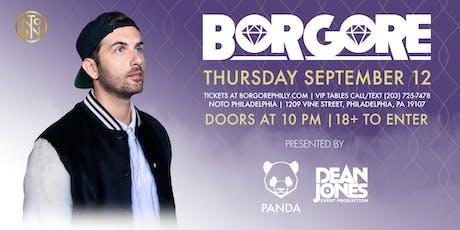 PANDA Presents: BORGORE at NOTO tickets