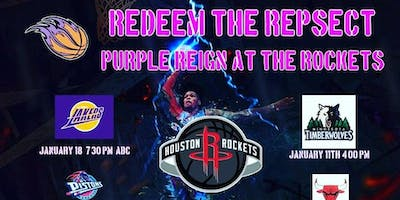 PURPLE REIGN NIGHT WITH THE ROCKETS