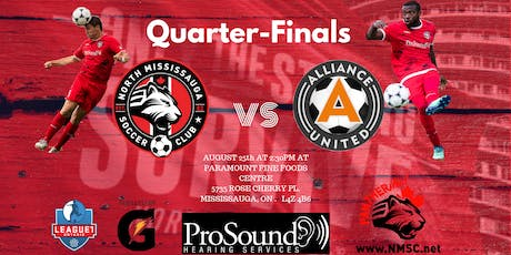Quarter-Finals North Mississauga SC VS Alliance United tickets