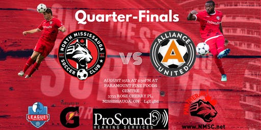 Quarter-Finals North Mississauga SC VS Alliance United