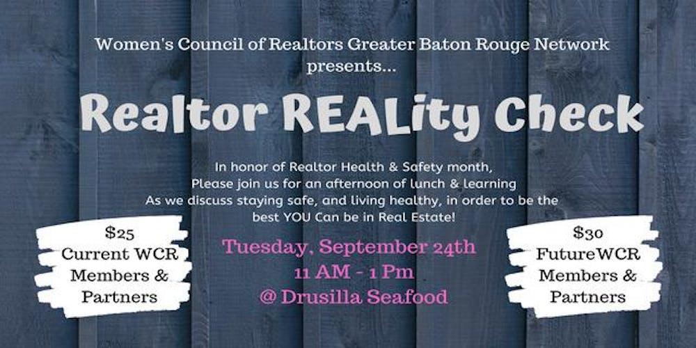 Realtor REALity Check Tickets, Tue, Sep 24, 2019 at 11:00 AM