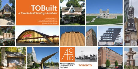 Information session on TOBuilt with ACO Toronto tickets