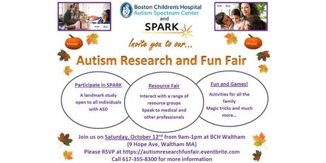 Fall Autism Research and Fun Fair 2019 tickets