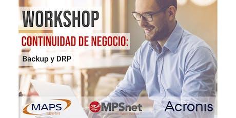 MPSnet: Workshop Continuidad TI - Backup y DRP  entradas