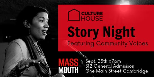 Massmouth Story Night with CultureHouse