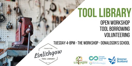Transition Linlithgow Tool Library: Open Workshop, Tool Borrowing and Volunteering