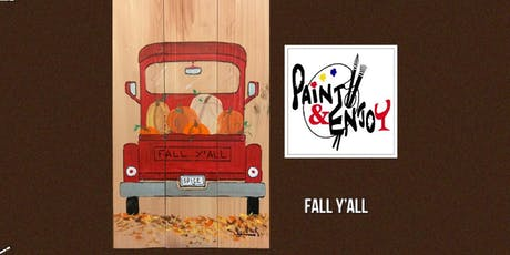 "Paint and Enjoy at Wyndridge Farm ""Fall y'all"" on Wood   tickets"
