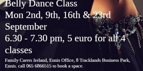 4 weeks of Belly Dancing classes tickets