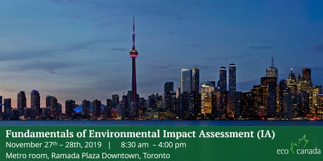Workshop: Fundamentals of Environmental Impact Assessment (IA) Toronto tickets