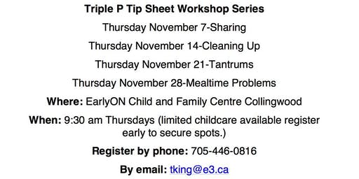 Triple P Tip Sheet-Sharing
