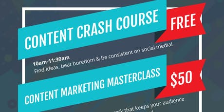 Content Marketing Crash Course + Masterclass  tickets