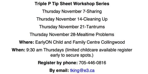 Triple P Tip Sheet-Cleaning Up
