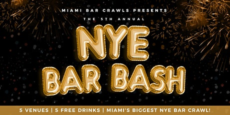 5th Annual New Year's Eve Bar Bash in Brickell tickets