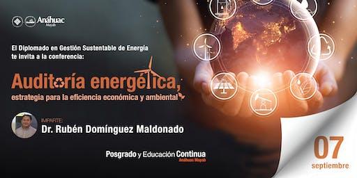 Conferencia Auditoria energética, estrategia para la eficiencia económica y ambiental