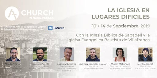 Barcelona - Church in Hard Places Workshop