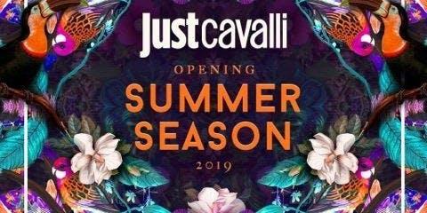 Sabato NOTTE SOTTO LE STELLE @ JUST CAVALLI - Aperitivo + Serata - ✆3491397993