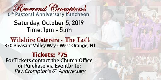 A Celebration of Pastor and People - Rev. Crompton's 6th Pastoral Anniv