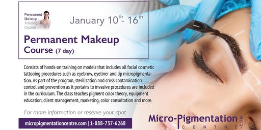 Fundamental Permanent Makeup / Microblading Course : $5,690.00