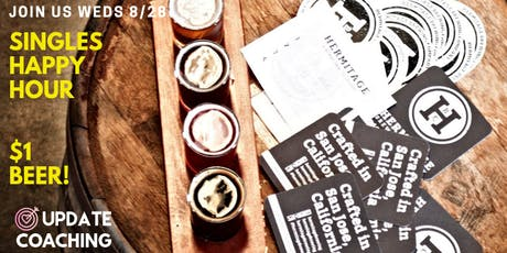 Singles Happy Hour| $1 BEER! ❤️ Hermitage Brewing  | 29-39 tickets