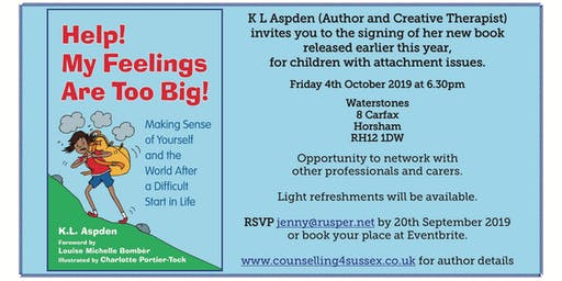BOOK SIGNING : Help! My Feelings are Too Big!