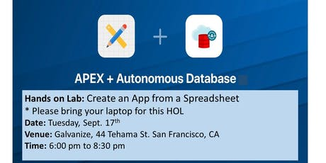 Oracle APEX on ATP Hands-On Lab: Creating an App from a Spreadsheet for Oracle Autonomous Cloud Service tickets
