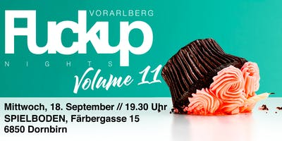 FuckUp Nights Vorarlberg // VOL. XI
