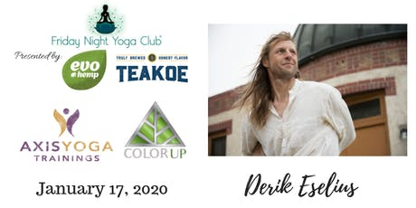 FNYC 1/17 with Axis Yoga at Color Up! Derik Eselius is Teaching!  tickets