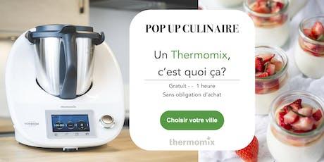 Pop-up! culinaire Thermomix® GRATUIT// Québec billets