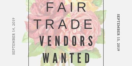 Fair Trade Vendors Wanted tickets