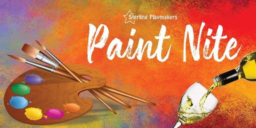 Paint Nite Fundraiser with Sterling Playmakers