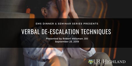 EMS Seminar: Verbal De-escalation Techniques tickets