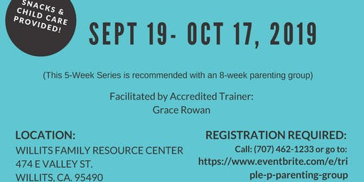 Parenting Apart Family Transitions Triple P - WILLITS [September 19 - October 17, 2019]