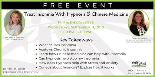 Treat Insomnia With Hypnosis & Chinese Medicine