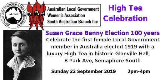 High Tea- Celebrating Susan Grace Benny Centenary
