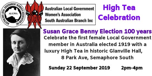 High Tea- Celebrating Susan Grace Benny Centenary