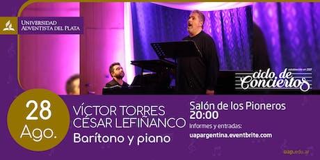 Ciclo de conciertos - Víctor Torres y César Lefiñanco entradas