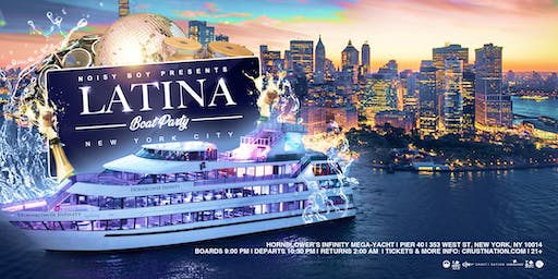 The #1 OFFICIAL Latina Boat Party NYC Mega Yacht Infinity Cruise