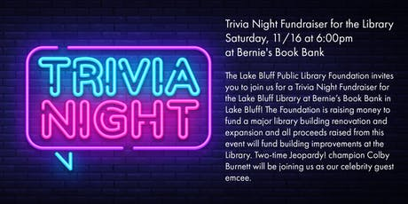 Trivia Night Fundraiser for Lake Bluff Library tickets