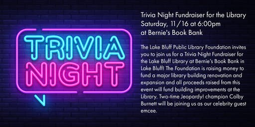 Trivia Night Fundraiser for Lake Bluff Library