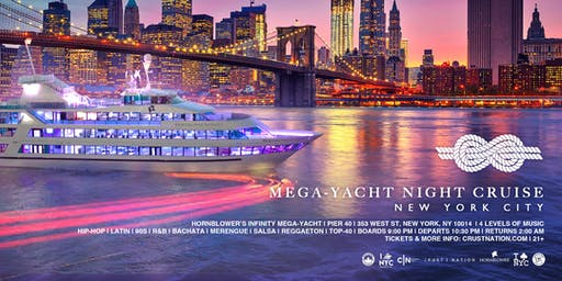 #1 NYC Yacht Cruise the Mega Yacht INFINITY Boat Party