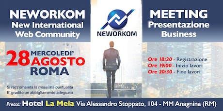 Neworkom Fine Agosto biglietti