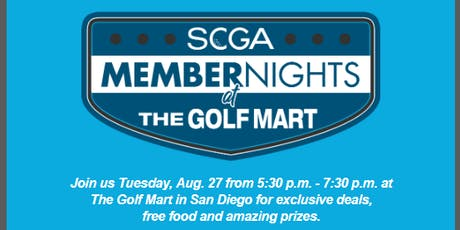 SCGA Member Nights: The Golf Mart - San Diego tickets