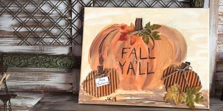 Fall / Pumpkin Paint Workshop tickets