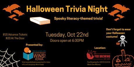 Halloween Trivia Night for Youth Literacy tickets