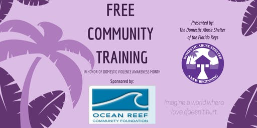 What is Love: A Free Community Training for Domestic Violence Awareness Month
